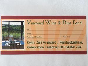 Picture of Cwm Deri Wine & Dine Voucher