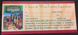 Picture of Cwm Deri Cheese & Wine Tasting Voucher