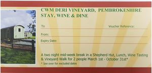 Picture of Stay, Wine & Dine Shepherd Hut Voucher
