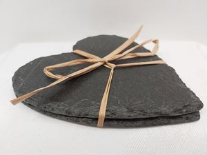 Picture of Slate Set 2 Heart Coasters